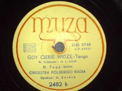 Mieczysław Fogg - Gdy Ciebię Widzę (Unikat!)