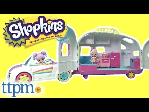 Shopkins Happy Places Rainbow Beach Campervan Convertible From Moose Toys