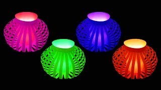 How to Make Fancy Paper Lantern Ball (Diwali and Christmas Crafts) : HD