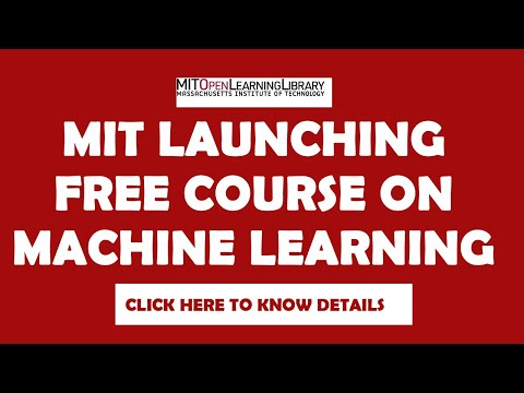 MIT Free Machine Learning Course - YouTube