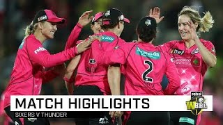Perry stars again as Sixers topple Thunder | Rebel WBBL|04