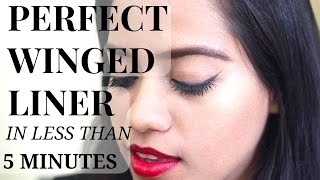 PERFECT WINGED LINER IN LESS THAN 5 MINUTES