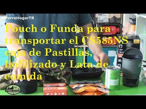 Pouch o Funda para transportar el CS585NS caja de Pastillas, liofilizado y Lata de comida