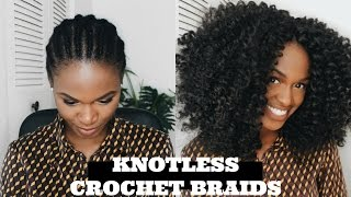 How To Slay Super Natural (knotless) Crochet Braids   Jamaican Bounce