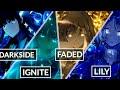 Download Lagu Nightcore → Darkside ✗ Lily ✗ Faded ✗ Ignite & MORE! Alan Walker Mashup/Switching Vocals - Lyrics Mp3 Free