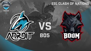 Team Adroit vs Boom ID Game 1 | Grand Finals ESL Clash of Nations Bangkok 2019