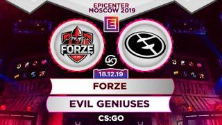 [RU] forZe vs Evil Geniuses CS:GO | Смотрим, ставим.