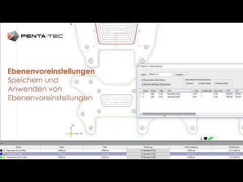 PENTA-NC: Ebenenvoreinstellungen