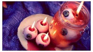 DIY: Bleeding Eyeball Candles | Halloween Room Decor