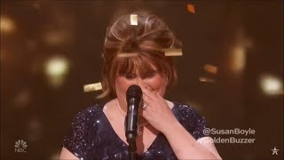 """Susan Boyle Earns Golden Buzzer With Iconic """"Wild Horses"""" - America's Got Talent: The Champions"""