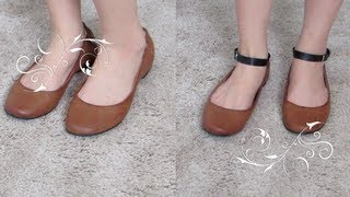 DIY: Ankle Strap For Your Flats/ Heels :)