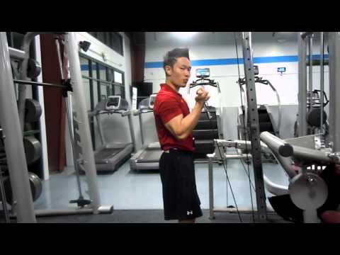 Standing Low Pulley Cable Bicep Curls