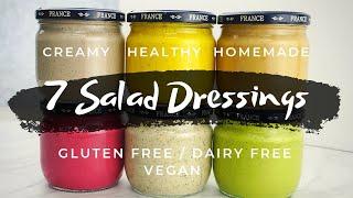 7 Creamy Homemade Salad Dressing Recipes (Dairy Free Gluten Free Vegan)