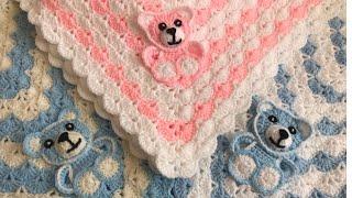 Crochet Bear/Crochet Baby Blanket/crochet Animal Blanket/crochet Blanket Pattern