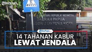 14 Tahanan Polresta Jayapura Kabur Menjebol Jendela, 13 Polisi Diperiksa