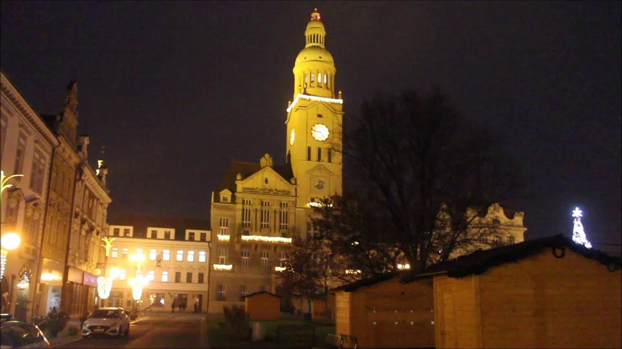 Rozsvícení vánočního stromu v Prostějově (listopad 2020)