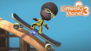 EXTREME SKATEBOARD TRICKS WITH SACKBOY! | LittleBIGPlanet 3 Gameplay (Playstation 4)