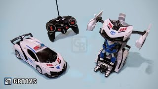 Transformers Remote Control Police Car - Unboxing Best RC Toys For Kids