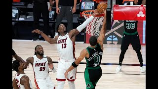 Bam's Wild Block On Tatum, Jimmy Butler's And-1 Close Out Celtics In Game 1 OT