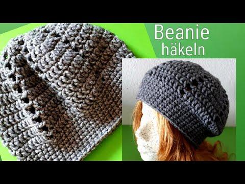 Einfache Long Beanie Mütze Häkeln Anleitung Mütze Häkeln