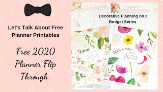 Lets Talk About Free Printables | Watch This Before You Buy A 2020 Planner | Free 2020 Planner