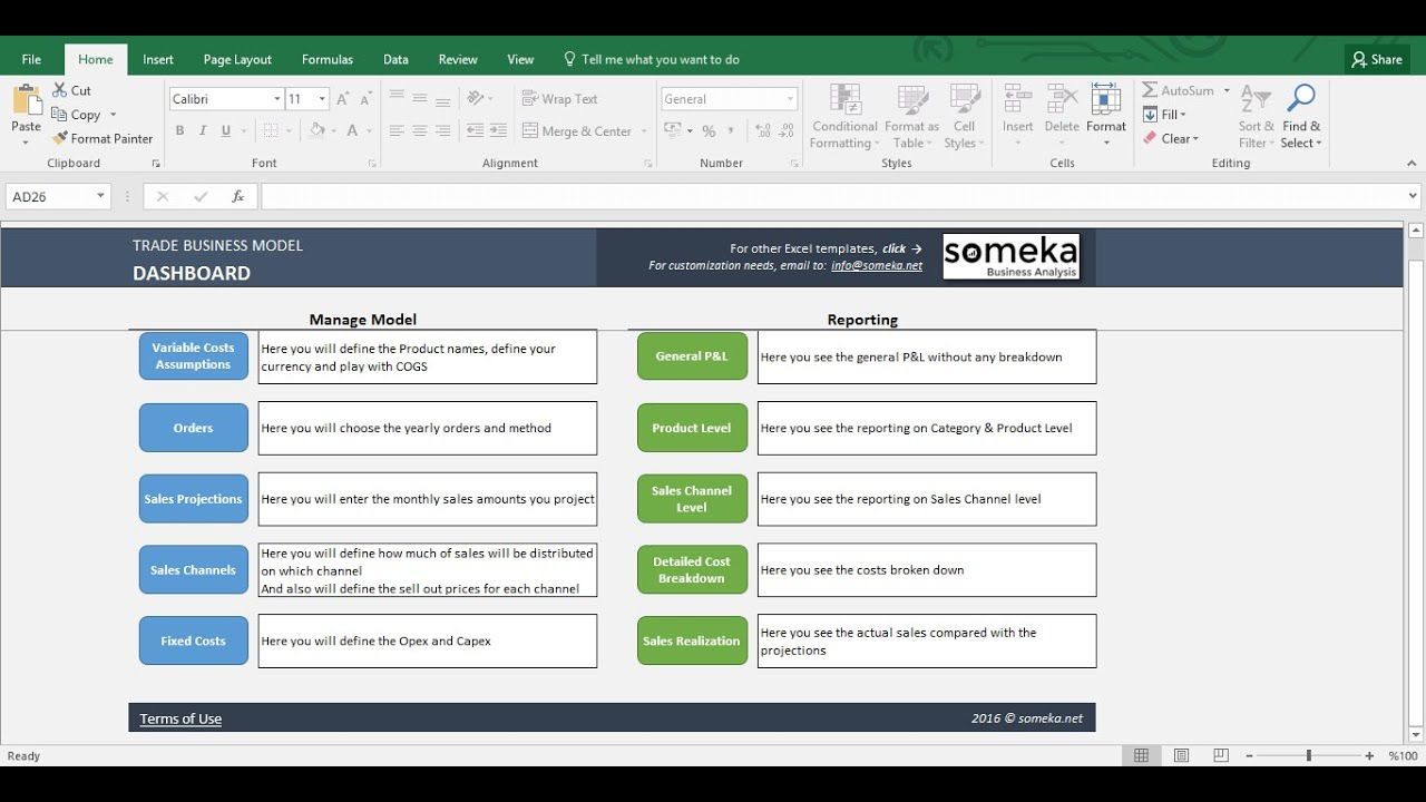 Feasibility Study Kit for Trade Startups - Someka Excel Template Video