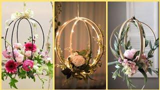 Blush Pink Floral Hoop Wreaths (sets Of 2)
