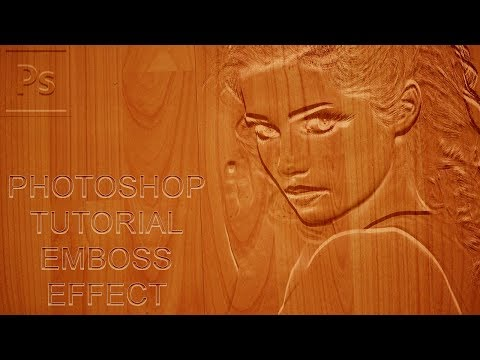 Photoshop Tutorial : Photo Effects - Emboss Effects
