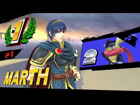 SSB4 - Marth's Victory Poses ~Wii U Version~