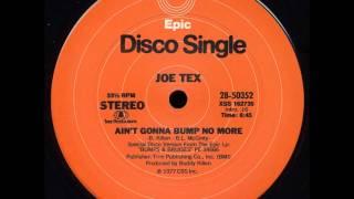 "Joe Tex - Ain't Gonna Bump No More 12"" - Paolo Amato Collection"