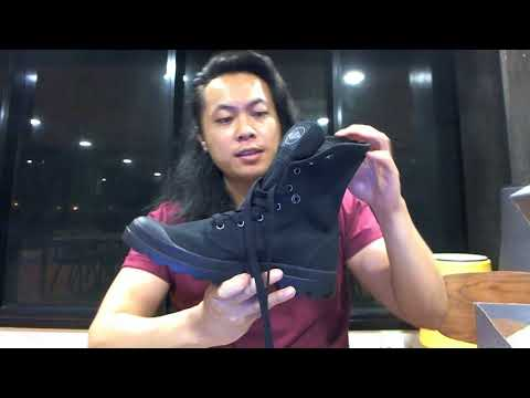 Palladium Mens Baggy Canvas Boots Black/Black review, unboxing + on foot