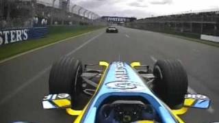 2006 Australian GP- Fernando Alonso start/restart
