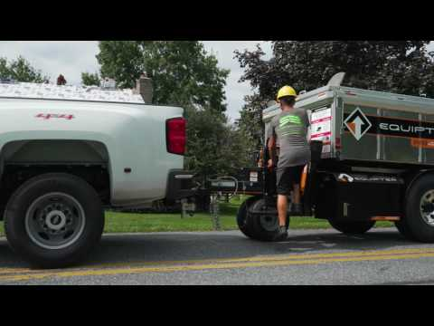 Middle Creek Roofing uses the Equipter self-driving portable dumpster to help make your roofing job more efficient and keep your yard clean and protected from debris!