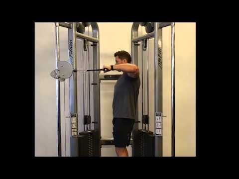 Shoulder Upright External Rotation (Cable) - Standing