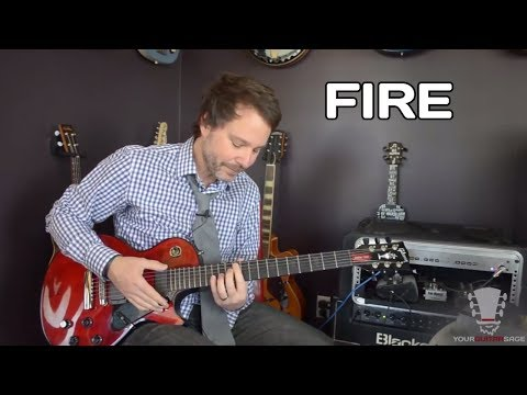 How to play Fire by Jimi Hendrix - Electric Guitar Lesson