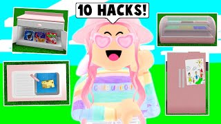 10 BUILDING HACKS In Bloxburg! *KITCHEN* (Roblox)