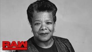 WWE honors Maya Angelou during Women
