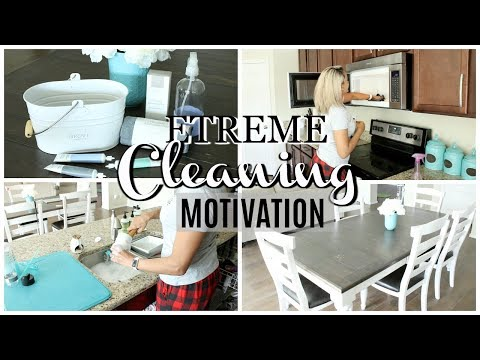CLEAN WITH ME 2018 | ALL NATURAL + NON-TOXIC | EXTREME CLEANING MOTIVATION
