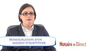 Homologation d'un mandat de protection