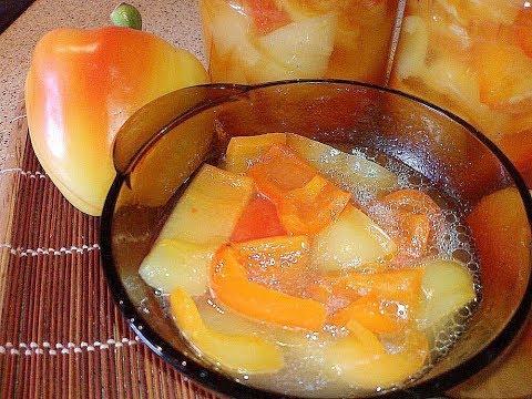 Перец маринованный с медом на зиму.