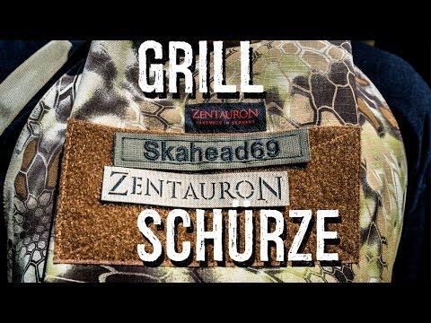 ZentauroN Grillschürze - Taktisch sicher grillen in Kryptek Highlander !