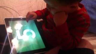 3 year old learning how to write numbers