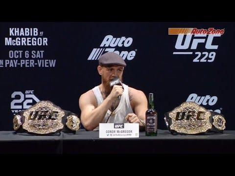 Nouvelle conférence de presse avant combat de l'UFC 229 : Khabib vs McGregor