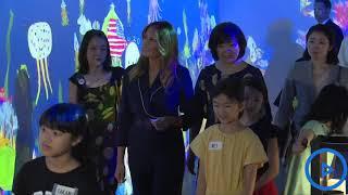Melania Trump visits the TeamLab museum in Tokyo