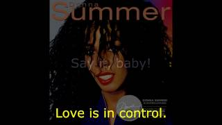 "Donna Summer - Love Is in Control (7"" Version) LYRICS SHM ""Donna Summer"" 1982"