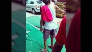 Desi Grandpa Wearing Ghagra Choli In Public