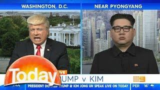 Donald Trump debates Kim Jong Un on Australian TV