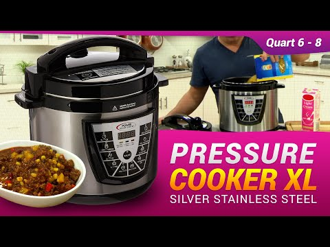 Pressure Cooker XL Silver Stainless Steel