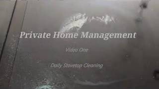 Private Home Management - Glass Stovetop