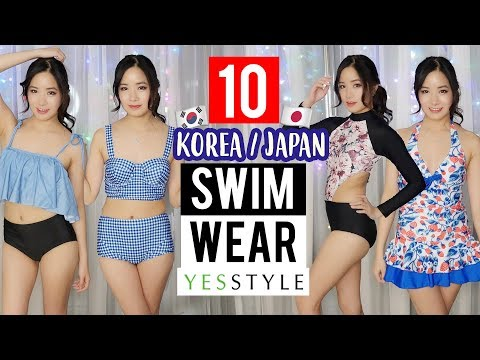 Cute JAPANESE/KOREAN SWIMWEAR Try-on HAUL from YESSTYLE
